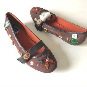 Miss L Fire jewel Mary Jane butterfly flats 39